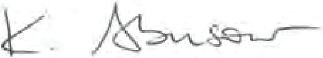KATHY ABUSOW's SIGNATURE
