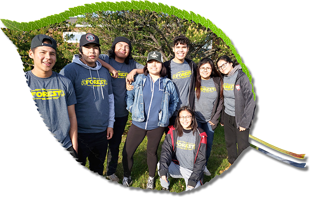Image of Green Jobs youth with Outland Youth Employment Program.