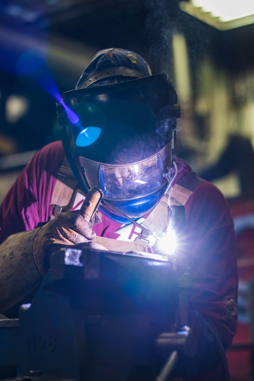 A man doing work