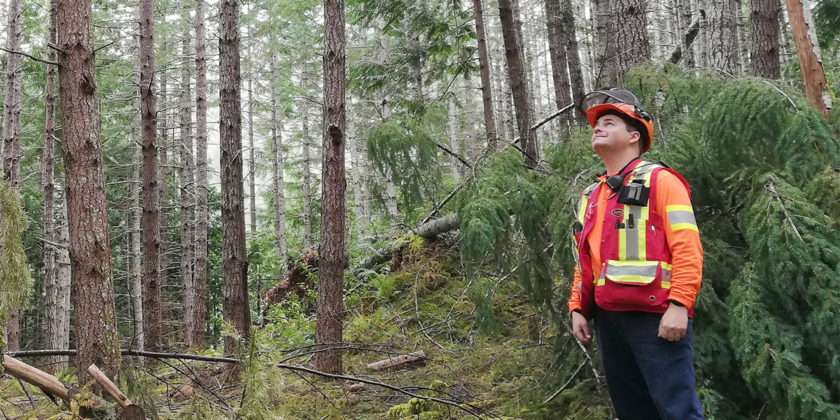 Will Vukovic, PLT Canada Green Jobs youth with Mosaic Forest Management, an SFI-certified organization