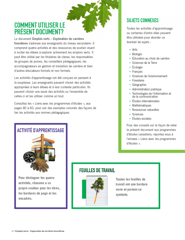 Emplois verts - page 6