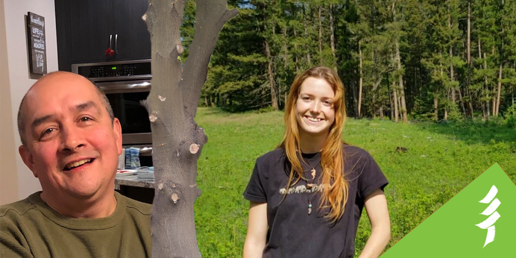 Ken Price, Manager, Partnerships for Mosaic Forest Management, and Sky Jarvis, who is working towards her Registered Professional Forester (RPF) designation, were in our 2020 mentorship.