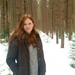 Christine Leduc in a forest