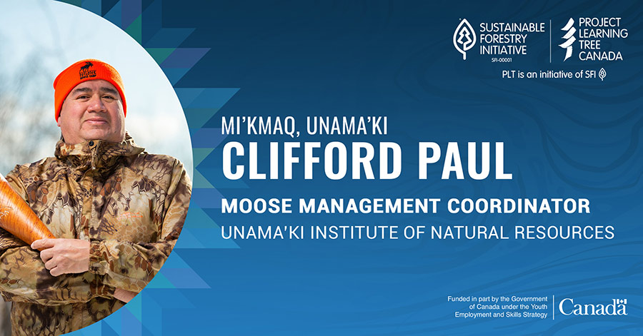 graphic promoting clifford paul's profile