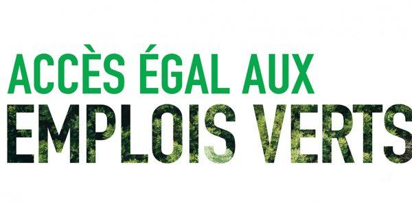« Accès égal aux emplois verts » logo