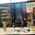 Paul Robitaille and Maria Chiarella host a PLT Canada booth at Indspire