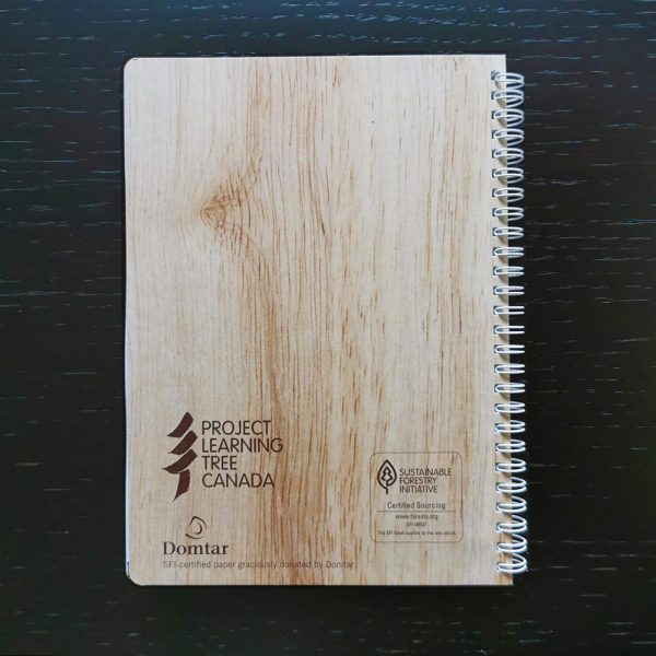 2020 Annual Report back cover with SFI certified label and Domtar recognition