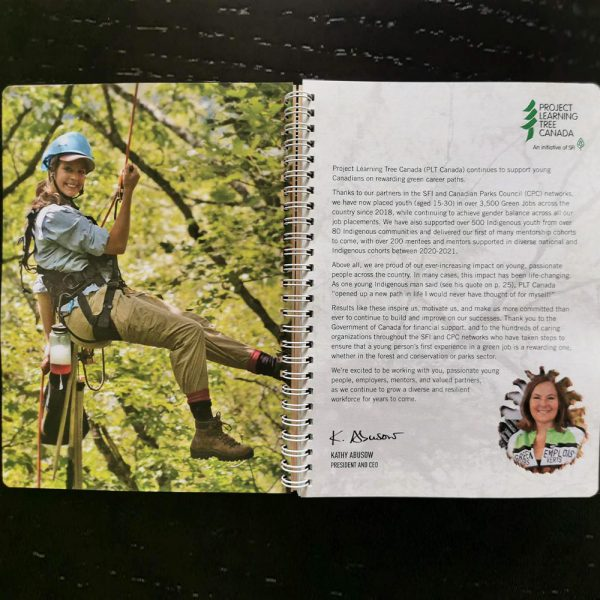 2020 Annual Report page with message from the CEO