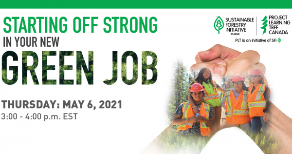 Starting off strong in your new green job graphic