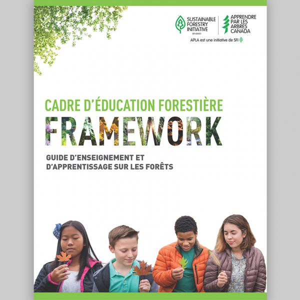 Capture d'écran du page titre du Cadre d'éducation forestière