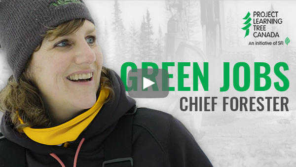 title card featuring cutout of Jenny with Green Jobs title in green