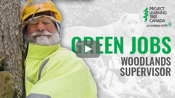 title card featuring cutout of Muddy Mark with Green Jobs title in green