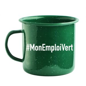 green steel mug